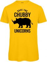 Save the Chubby unicorn Herren gelb
