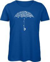 der Notenschirm Damen blau
